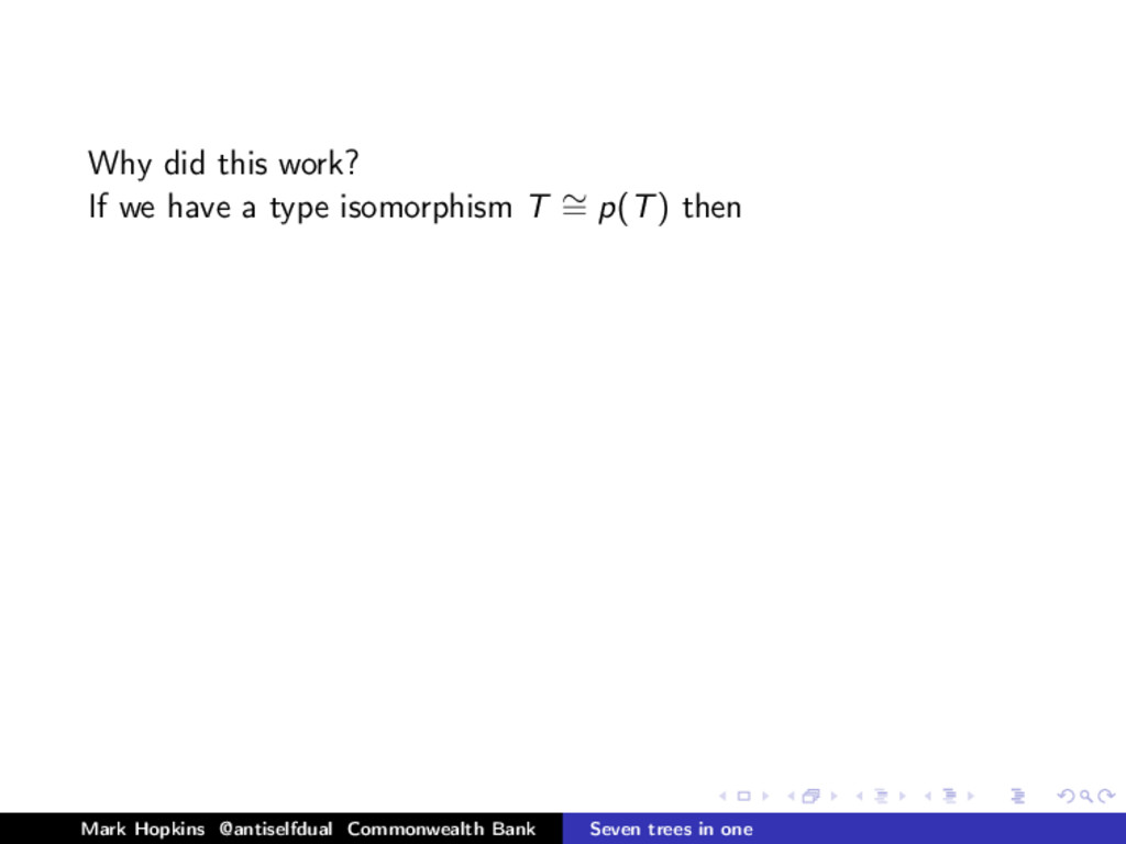 Why did this work? If we have a type isomorphis...