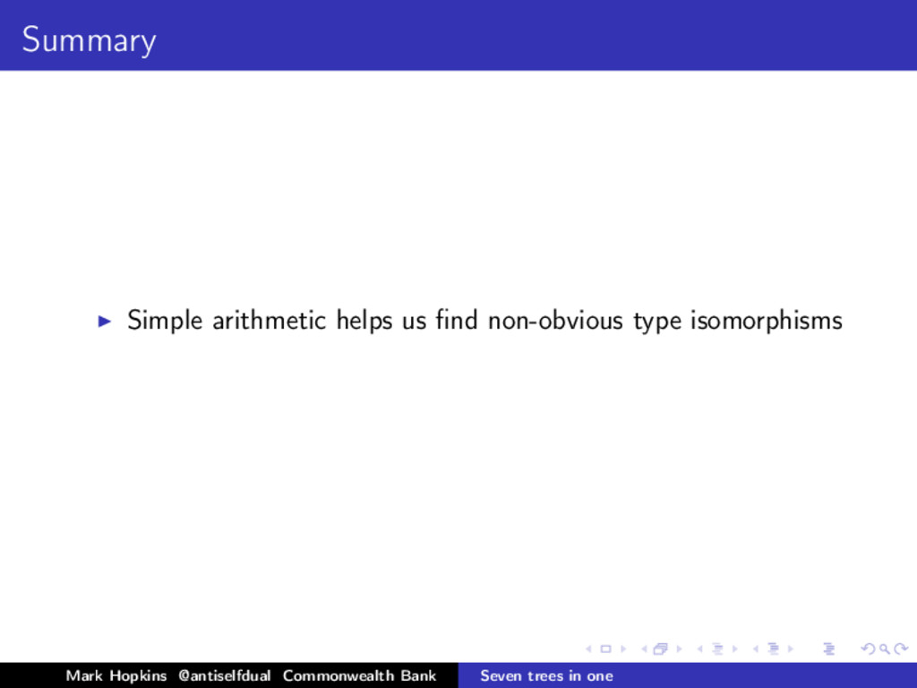 Summary Simple arithmetic helps us find non-obvi...