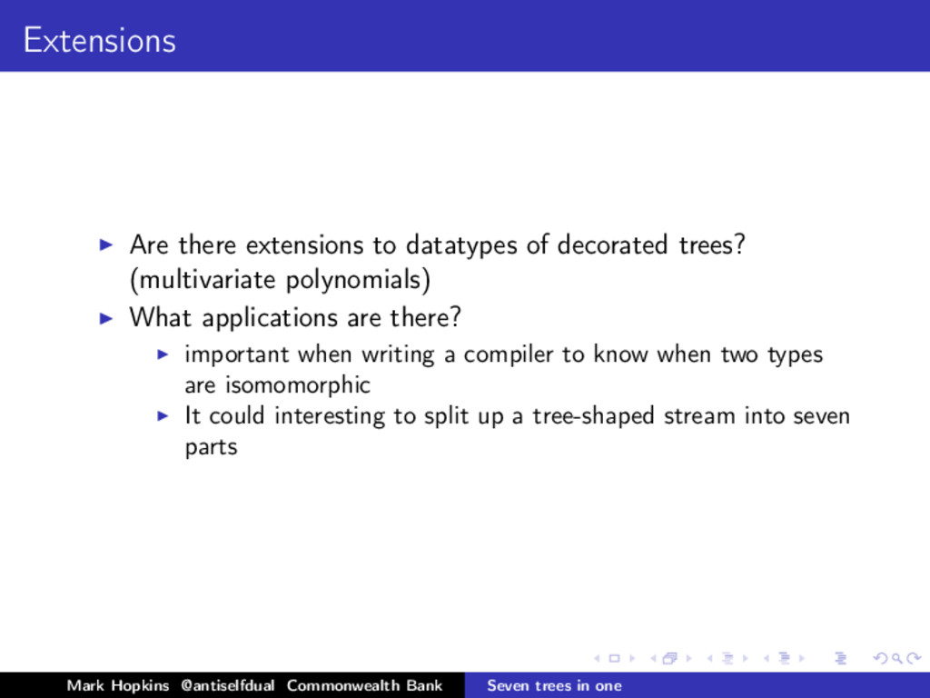 Extensions Are there extensions to datatypes of...
