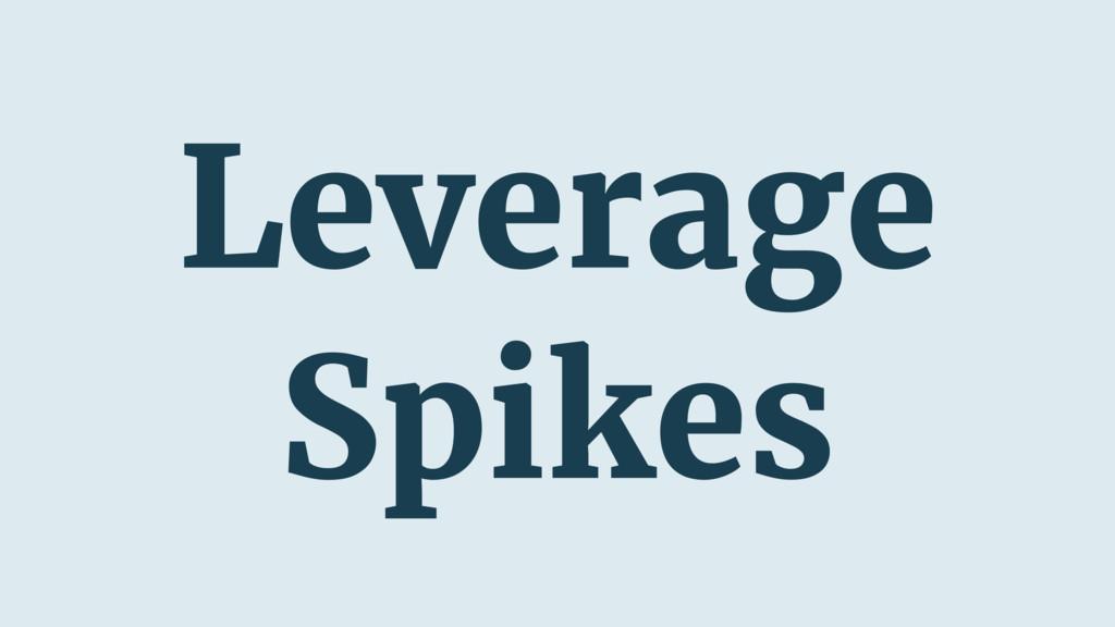 Leverage Spikes