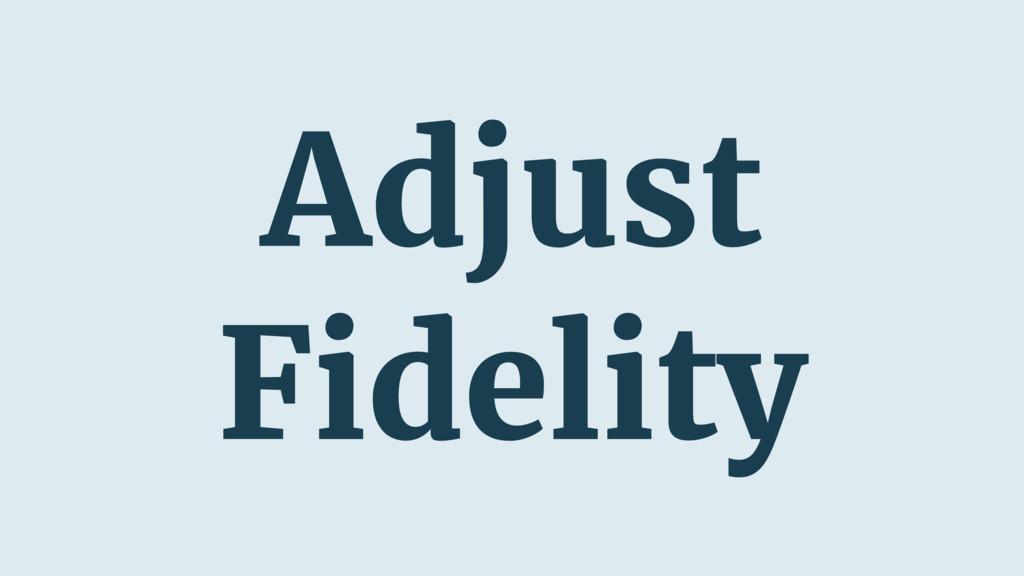 Adjust Fidelity