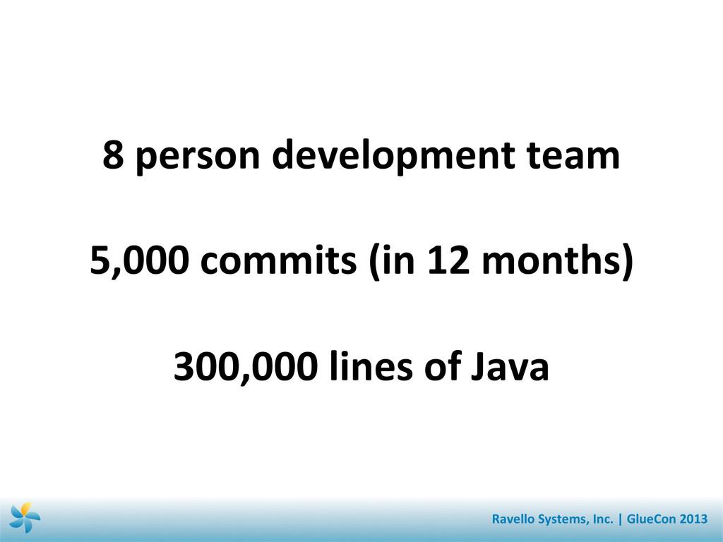 8 person development team    5,0...