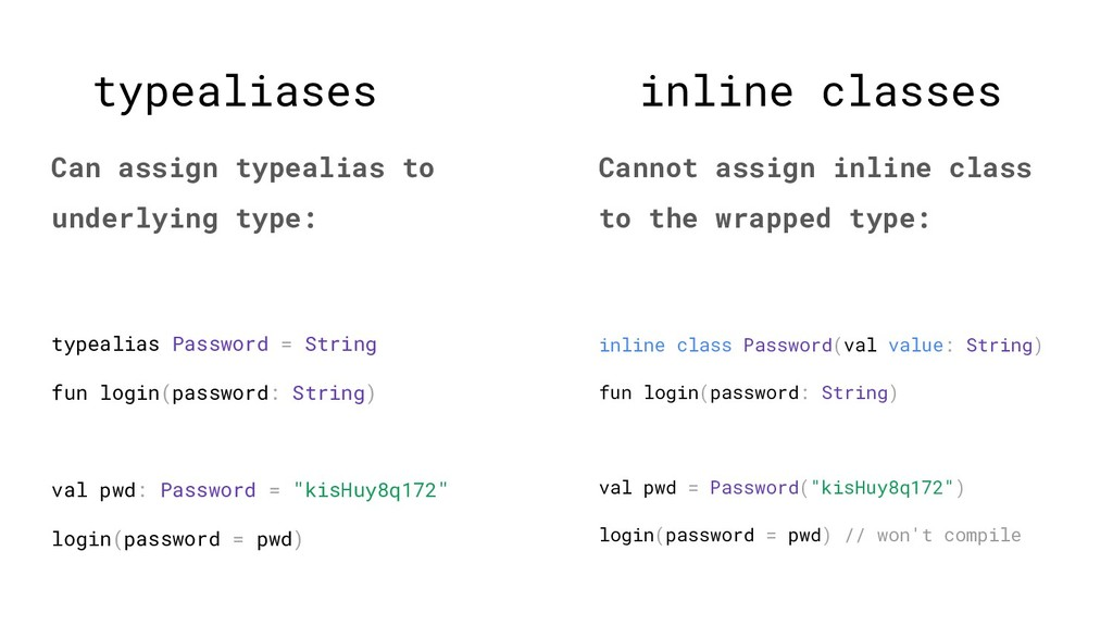 inline classes Cannot assign inline class to th...