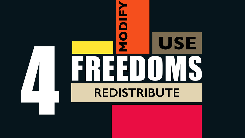 Use Text FREEDOMS 4 USE MODIFY REDISTRIBUTE