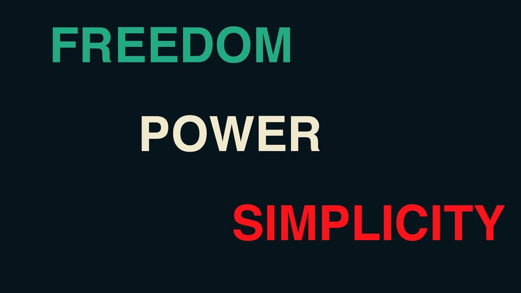 Power FREEDOM POWER SIMPLICITY