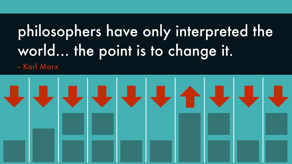 """""""Philosophers have only interpreted the world… ..."""