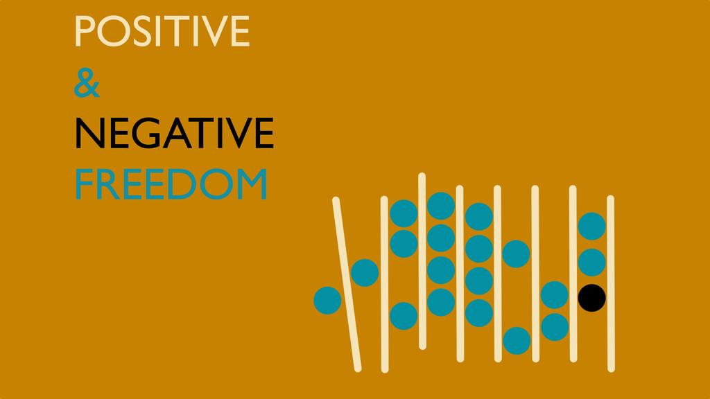 POSITIVE & NEGATIVE FREEDOM