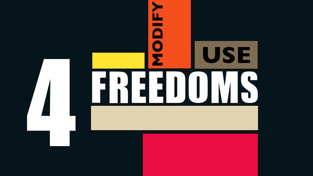 Use Text FREEDOMS 4 USE MODIFY