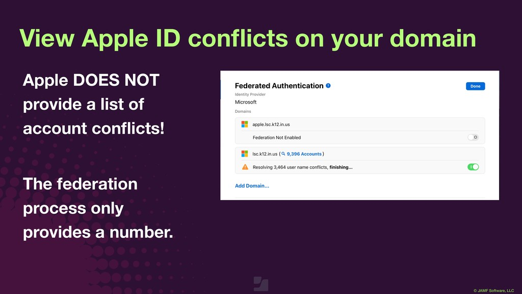 © JAMF Software, LLC View Apple ID conflicts on ...