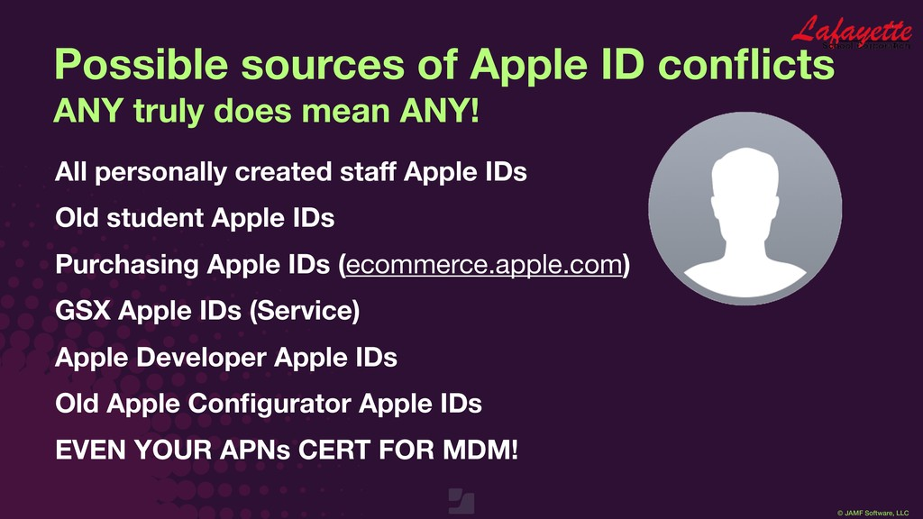 © JAMF Software, LLC Possible sources of Apple ...
