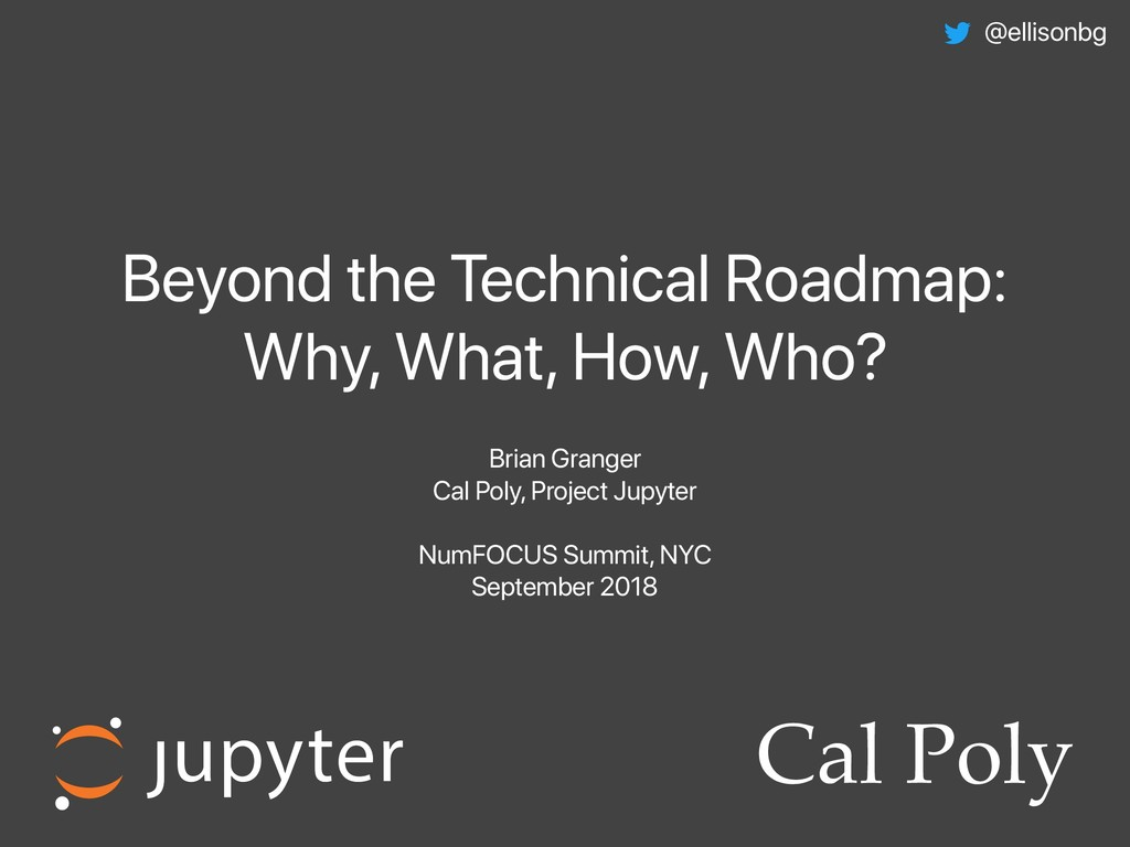 Beyond the Technical Roadmap: Why, What, How, W...