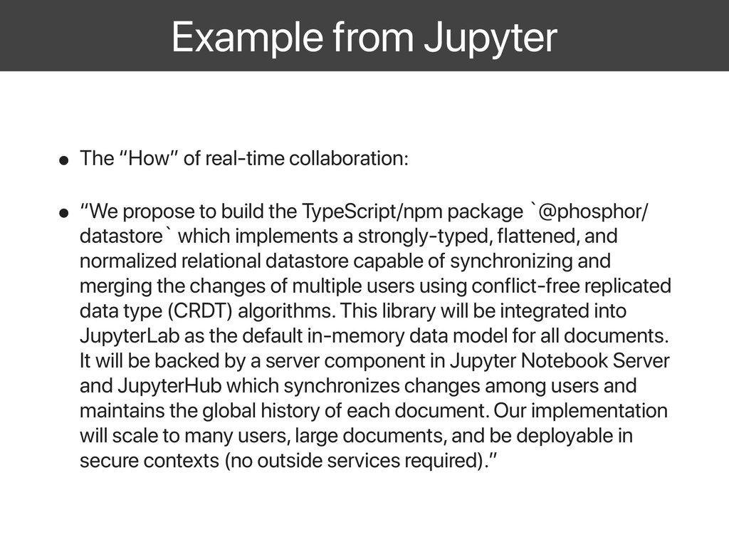 "Example from Jupyter • The ""How"" of real-time c..."