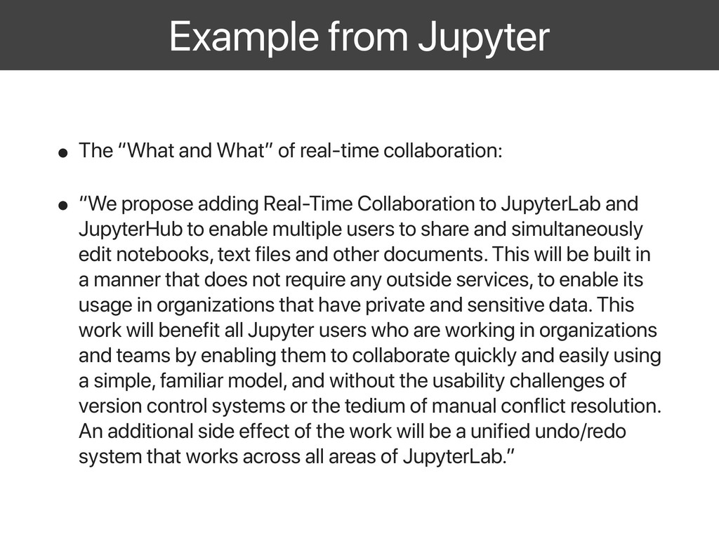 "Example from Jupyter • The ""What and What"" of r..."