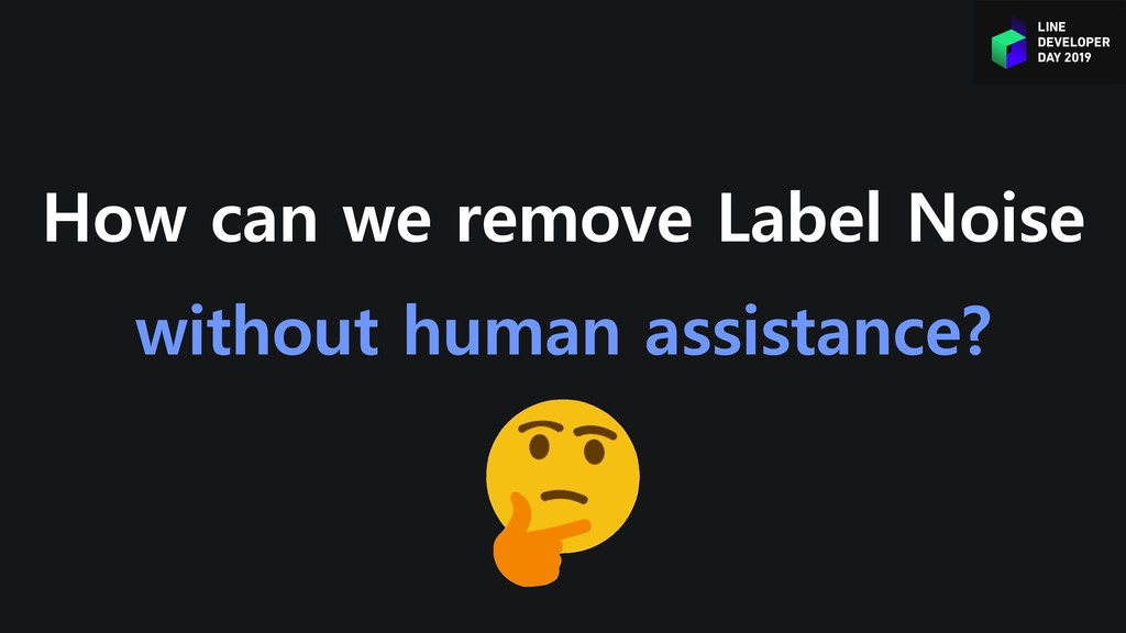 How can we remove Label Noise without human ass...