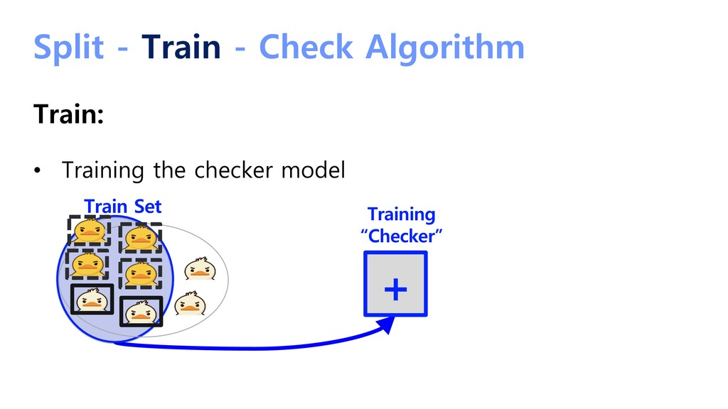 Split - Train - Check Algorithm Train: • Traini...