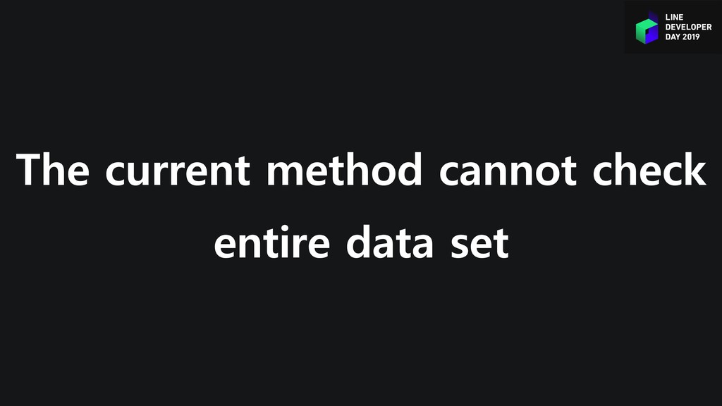 The current method cannot check entire data set