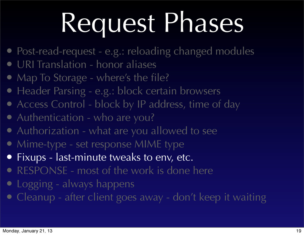 Request Phases • Post-read-request - e.g.: relo...
