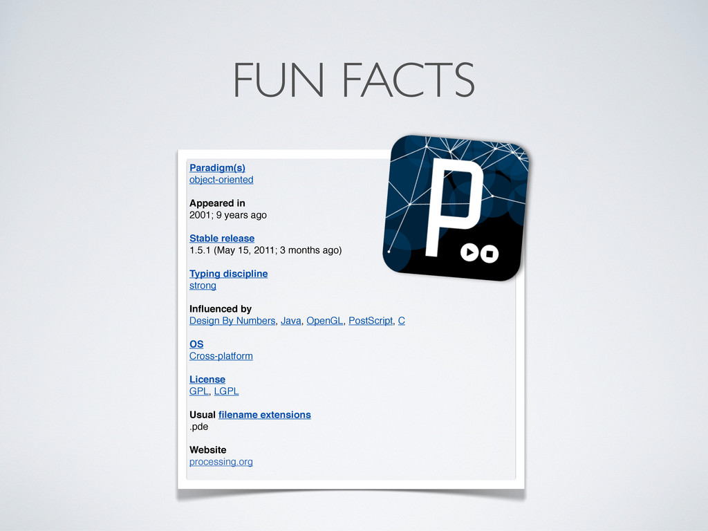 FUN FACTS Paradigm(s) object-oriented Appeared ...
