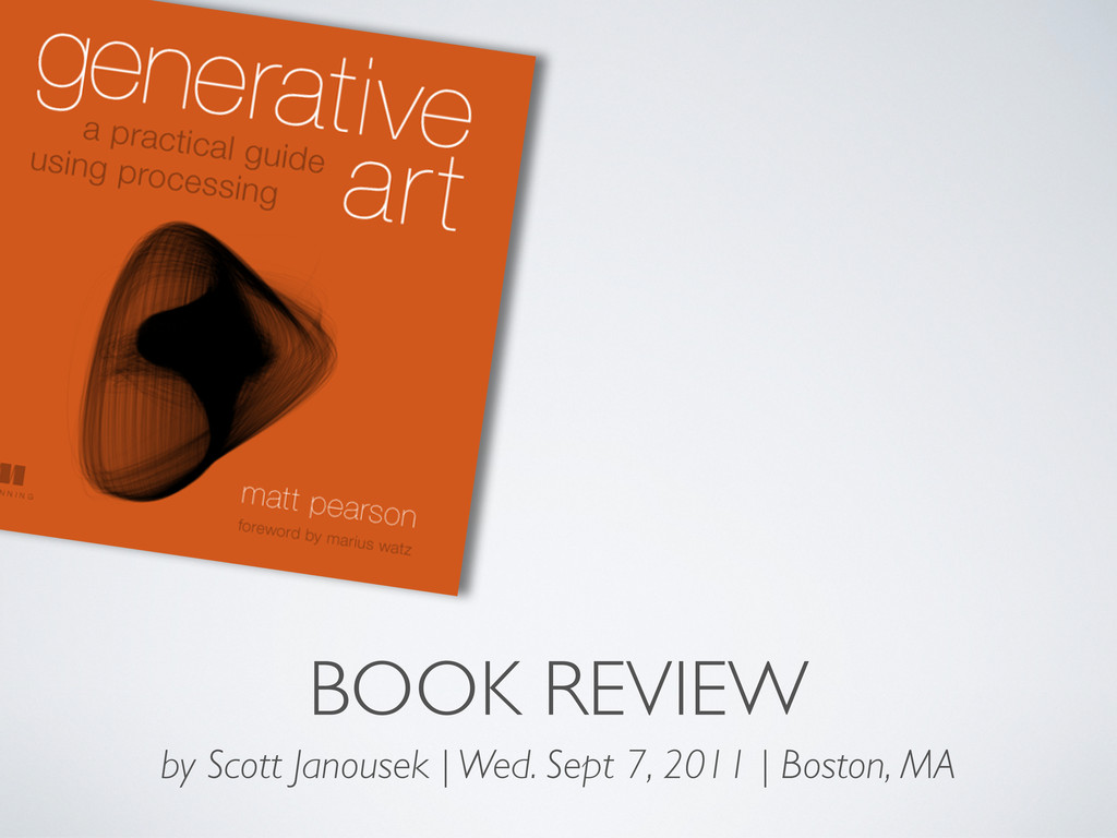 BOOK REVIEW by Scott Janousek | Wed. Sept 7, 20...