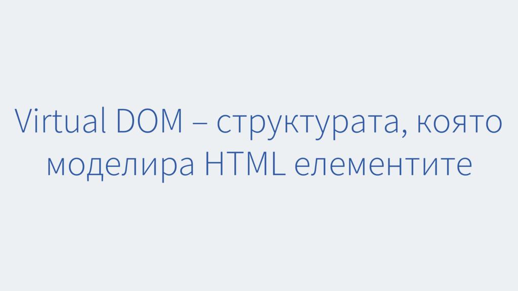 Virtual DOM – структурата, която моделира HTML ...