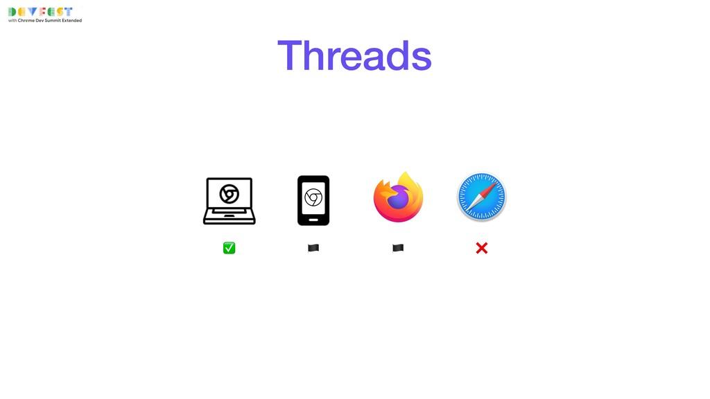 ✅   ❌ Threads
