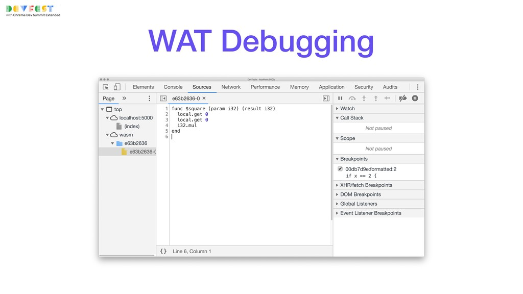 WAT Debugging