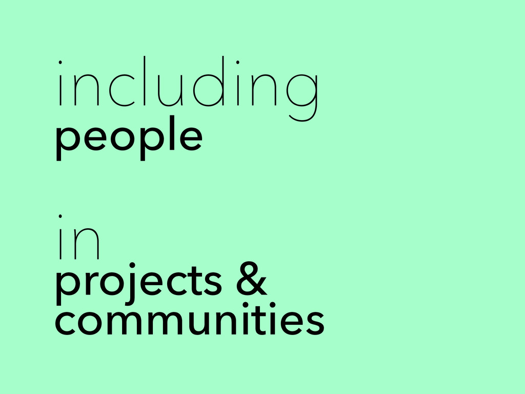 including people in projects & communities