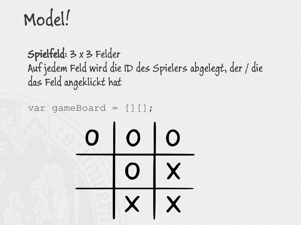 Model! Spielfeld: 3 x 3 Felder Auf jedem Feld w...