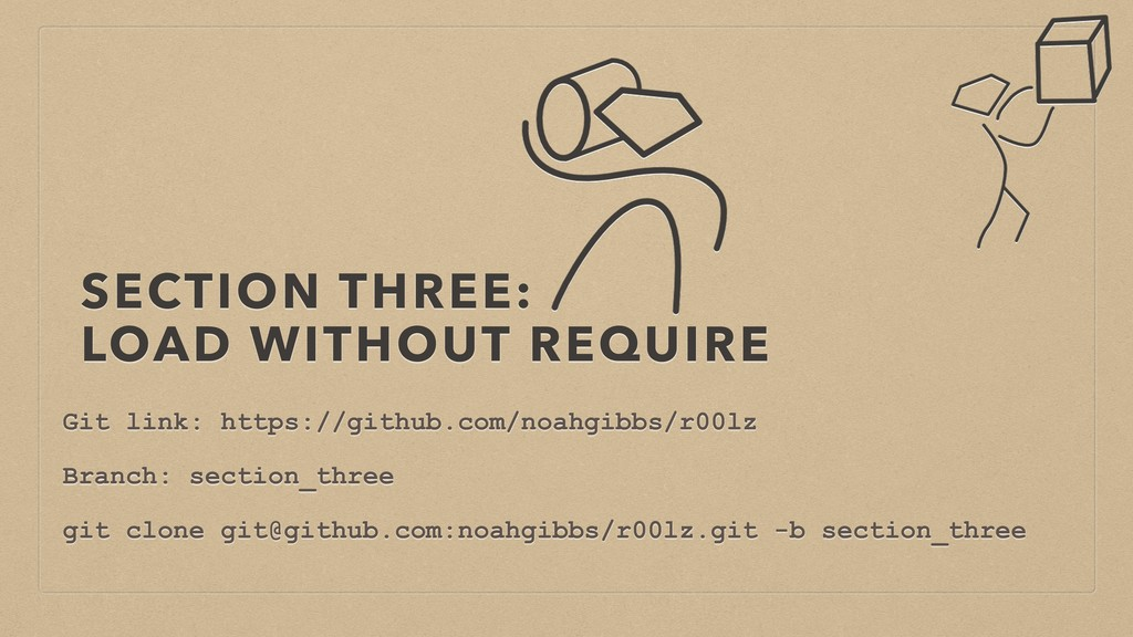 SECTION THREE: