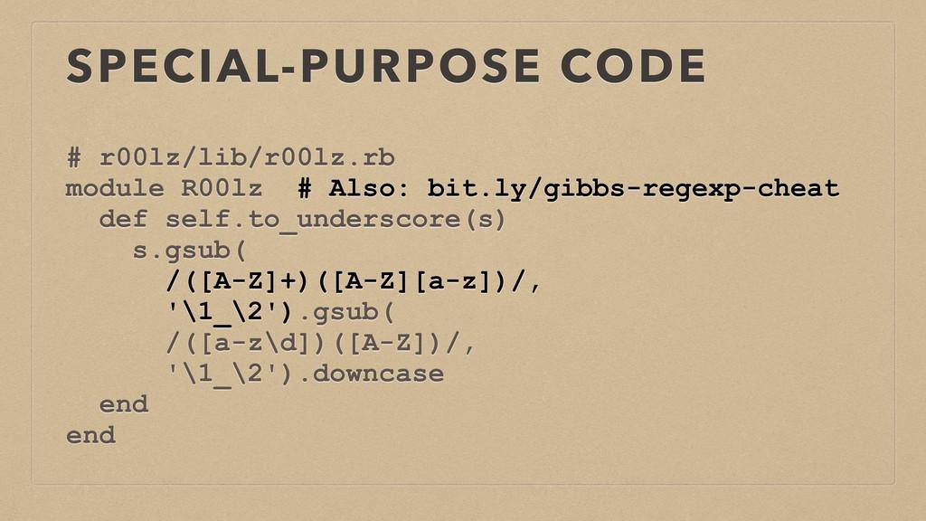 SPECIAL-PURPOSE CODE # r00lz/lib/r00lz.rb modul...