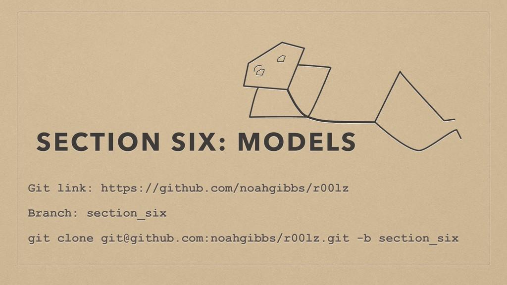 SECTION SIX: MODELS Git link: https://github.co...