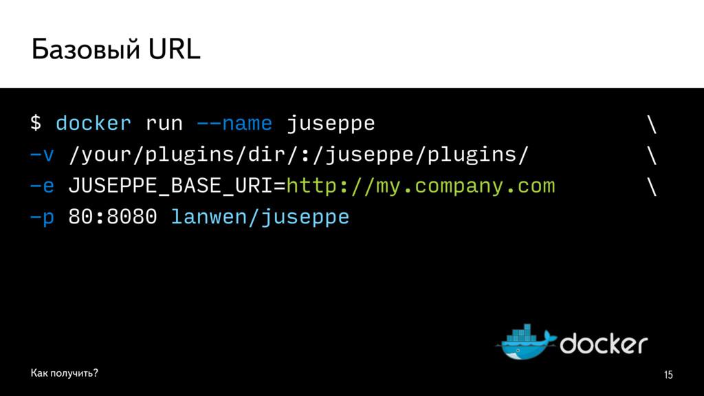 $ docker run --name juseppe \ -v /your/plugins/...