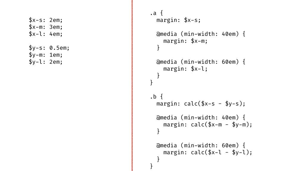 .a { margin: $x-s; @media (min-width: 40em) { m...