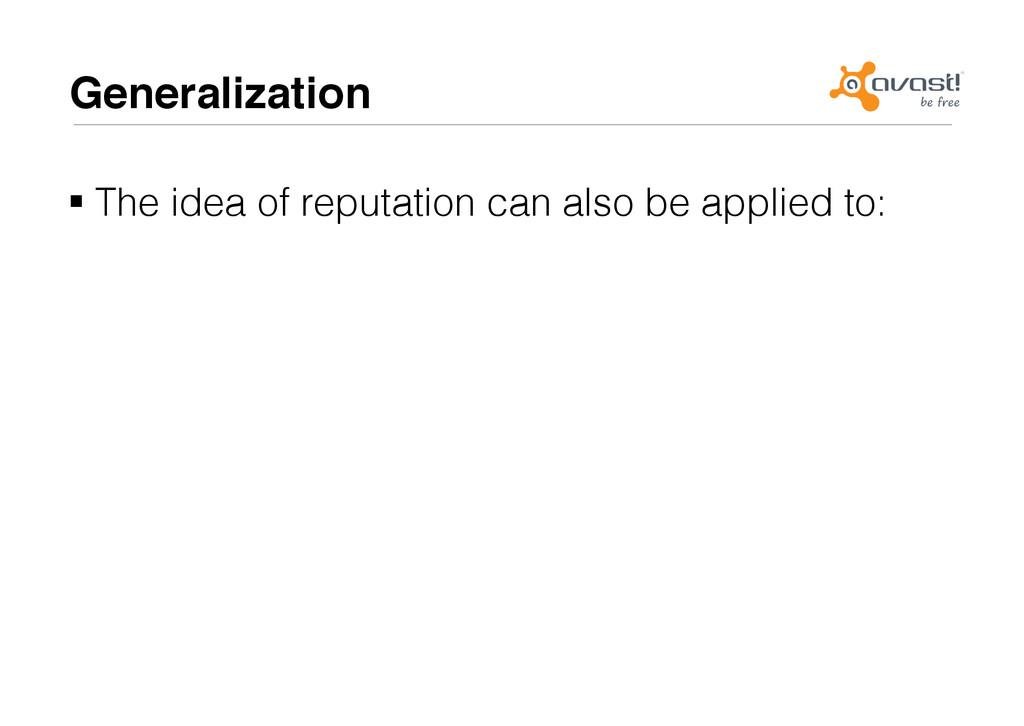 Generalization# !The idea of reputation can al...