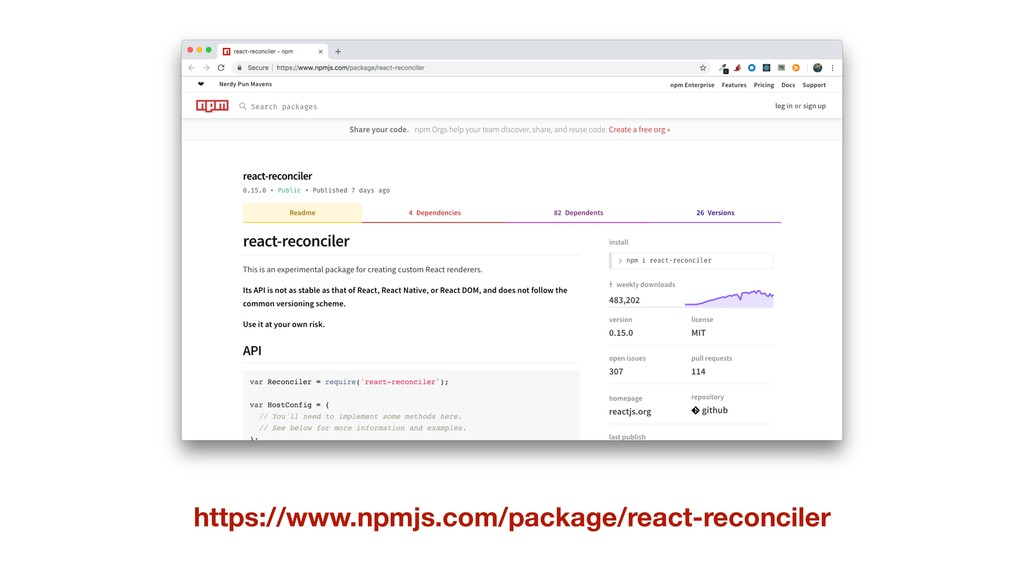 https://www.npmjs.com/package/react-reconciler