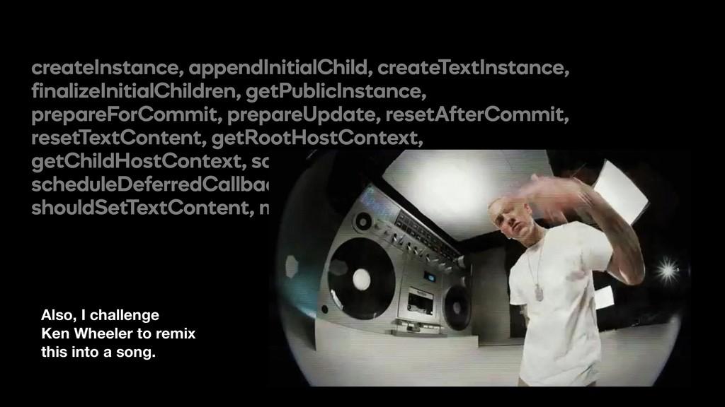 createInstance, appendInitialChild, createTextI...