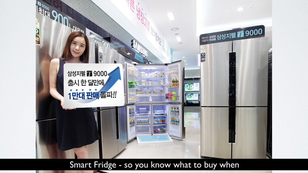 Smart Fridge - so you know what to buy when