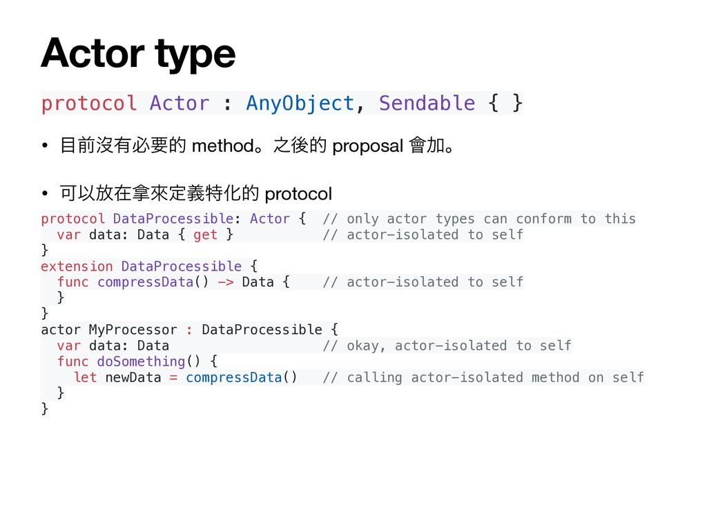 protocol Actor : AnyObject, Sendable { } • લᔒ༗...