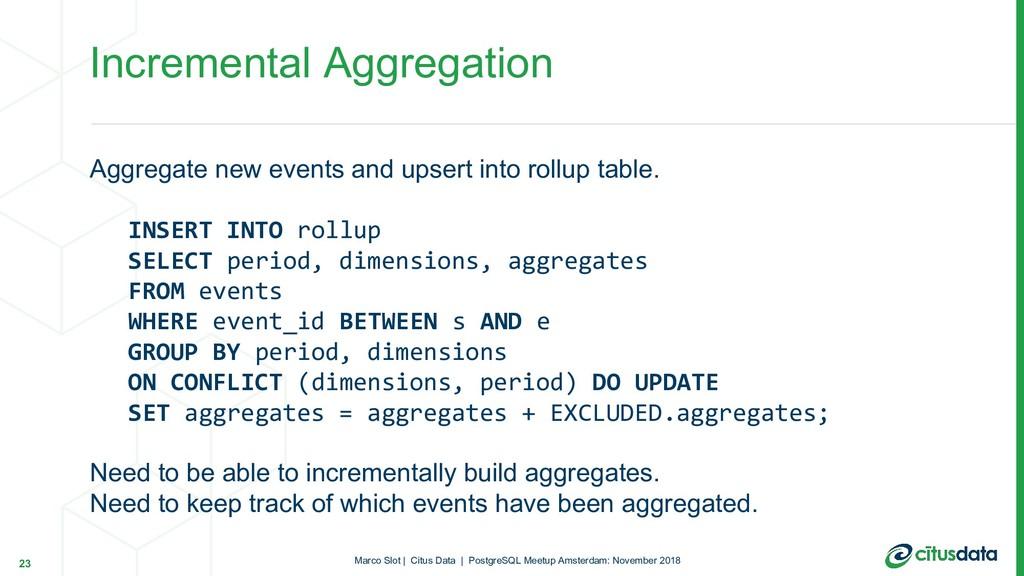 Marco Slot | Citus Data | PostgreSQL Meetup Ams...