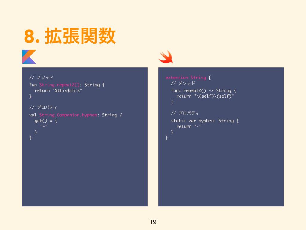 8. ֦ுؔ // ϝιου fun String.repeat2(): String { ...