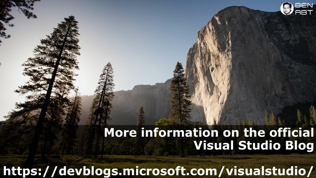 More information on the official Visual Studio ...