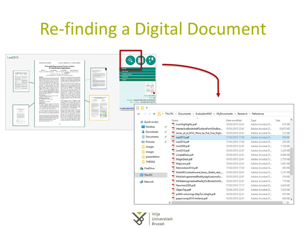 Re-finding a Digital Document