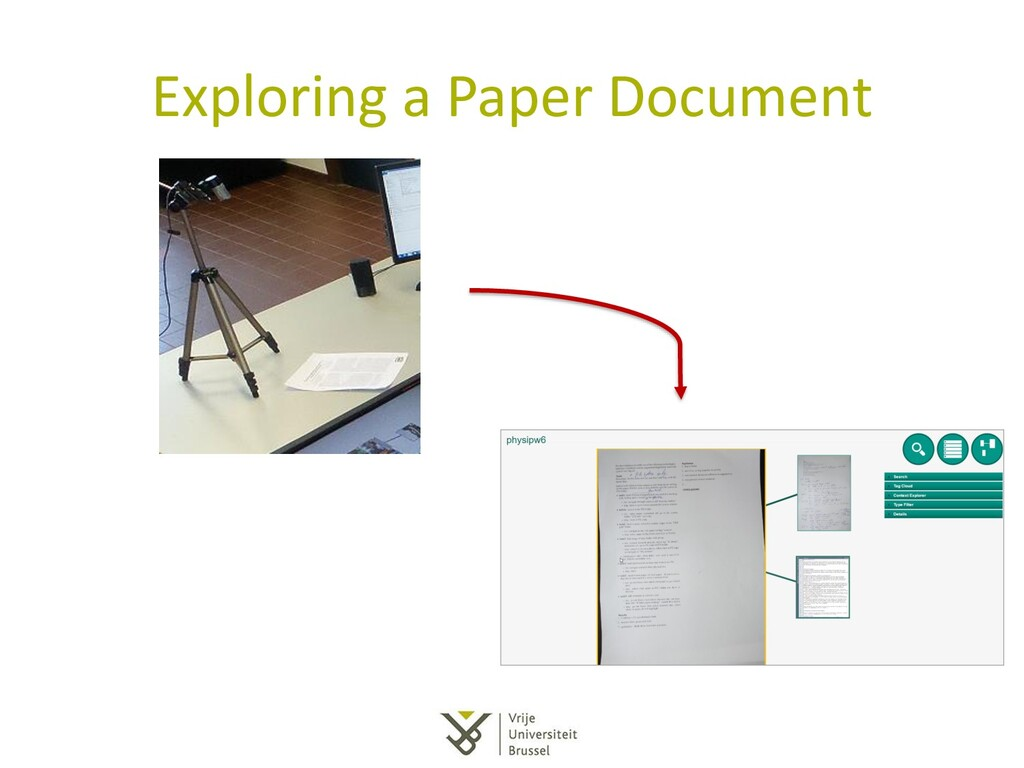 Exploring a Paper Document
