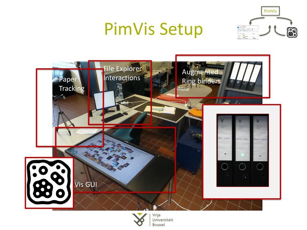 PimVis Setup Paper Tracking PimVis GUI File Exp...