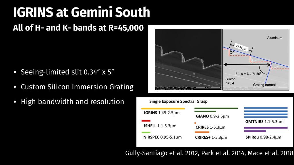 All of H- and K- bands at R=45,000 IGRINS at Ge...