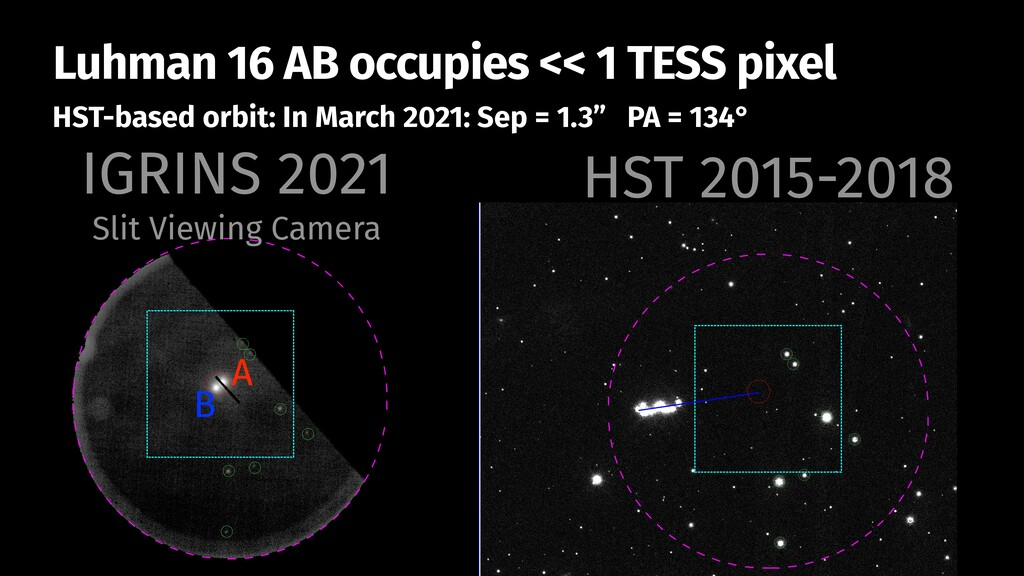 Luhman 16 AB occupies << 1 TESS pixel HST-based...