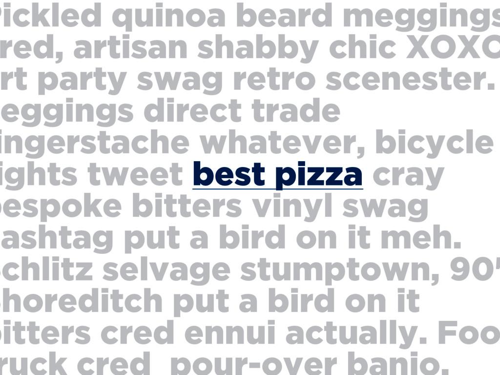 Pickled quinoa beard meggings red, artisan shab...