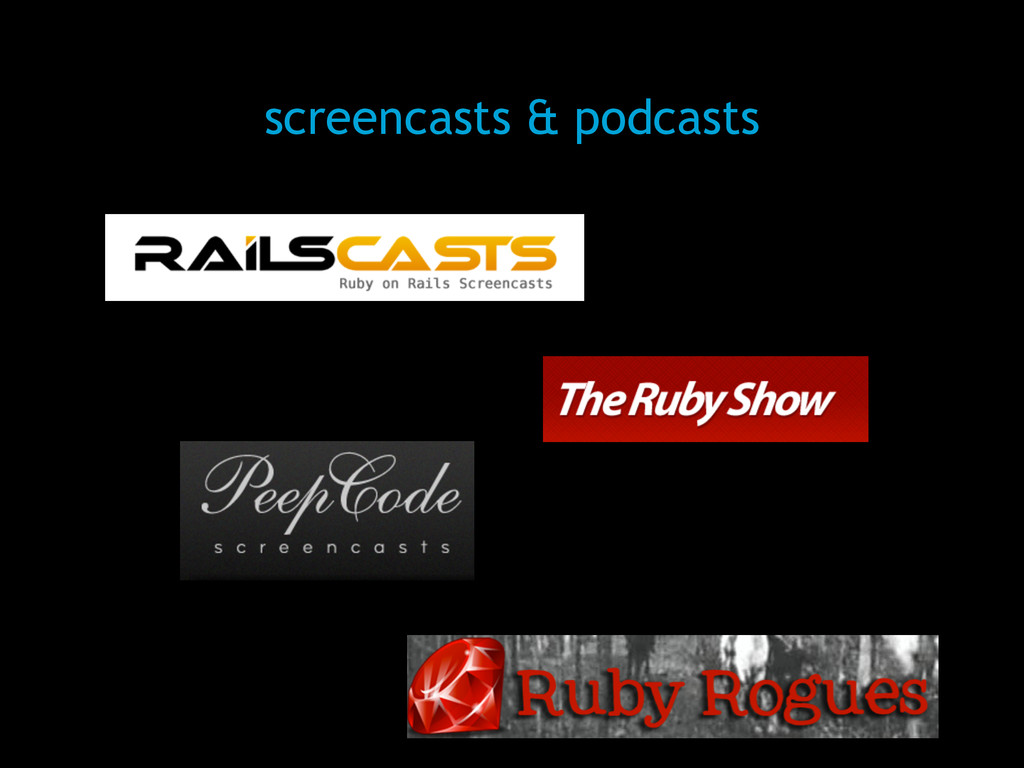 screencasts & podcasts
