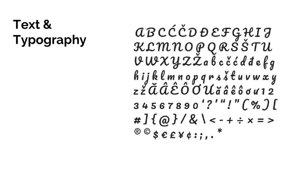 Text & Typography