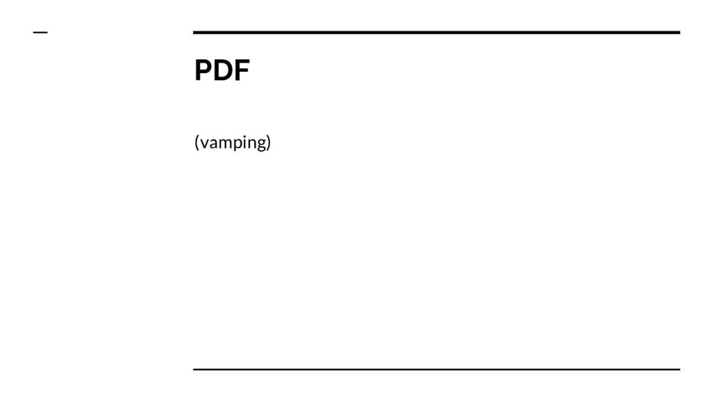 PDF (vamping)